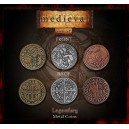 Monete Medievali in metallo (Legendary Metal Coins Medieval Set)