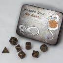Set 7 dadi metallo (Metal Dice Set - Gun Metal) - 91742