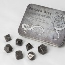 Set 7 dadi metallo (Metal Dice Set - Antique Silver) - 91737