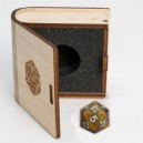 Gemstone Collectors Dice - Yellow Tiger Eye - BF08629