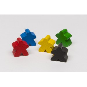 Meeple Carcassonne Nero