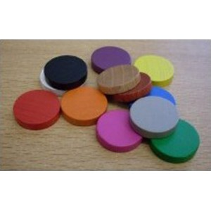 BUNDLE Token rotondi MISTI 15x4mm (24 pezzi)