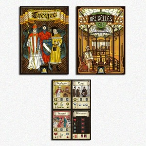 BUNDLE Bruxelles + Troyes Ed. 2016 (include 4 carte promo) + Bruxelles 1893 manuale ITA