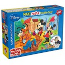 Puzzle 108 pz Maxi Double-Face Disney Mickey Mouse & Friends Art.37247